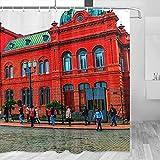 Argentina Casa Rosada Buenos Aires - Cortina de ducha de viaje con ganchos (poliéster, 72 x 72 pulgadas)