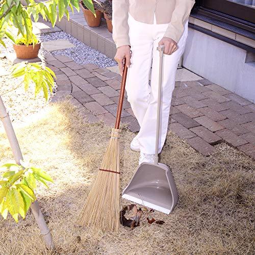 アズマほうきちりとりセット庭園チリトーレチリトリ幅27cm全長84cm弾力性のあるヤシの葉脈を使用名匠174