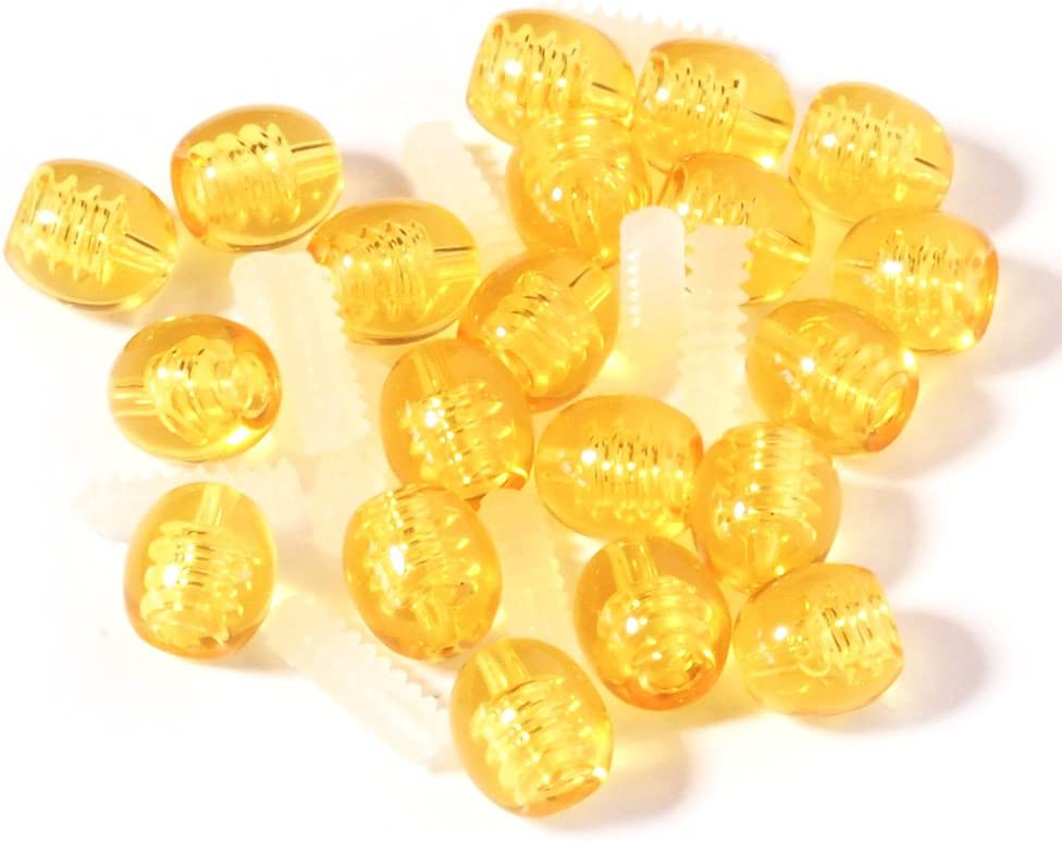 Screw Sale item Clasp 10 pcs Yellow for Jewelry Making Indianapolis Mall Baltic Amber Nec of
