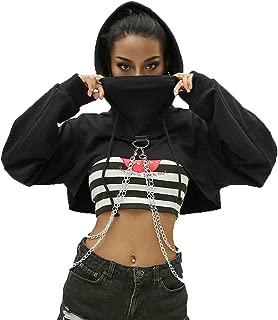 Women's Elastic Fishnet Long Sleeve Mesh Crop Top Clubwear See Through