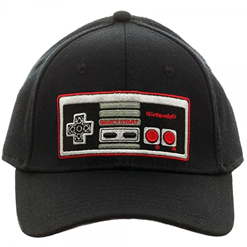 37675069128f4c Nintendo Controller Black Flex Cap Baseball Hat
