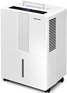 COSTWAY Portable Dehumidifier 3000 Sq. Ft w/Wheels and Drain Hose Outlet to Remove Mold, Odor and Allergens for Basements Extra Large Rooms