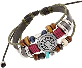 Vintage Bohemia Beaded Bracelet, Multilayer Hand Woven...