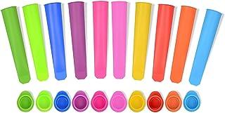 iNeibo - Juego de moldes para helados, polos de hielo, de silicona, sin BPA, 10 unidades, multicolor