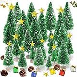 Sunshine smile 35 pezzi albero di Natale, mini albero di Natale, verde