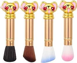 Sakura Foundation Kabuki Makeup Brush - Perfect For Blending Liquid, Cream or Flawless Powder Cosmetics Single Face Travel Makeup Brushes Premium Quality Synthetic Dense Bristles (Gold)