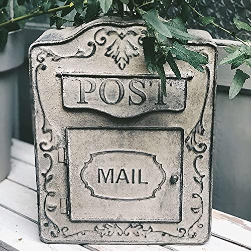 Väggmonterad brevlåda American Letterbox Vintage Outdoor Mail Drop Box Iron Postbox för huskontor lätt att installera