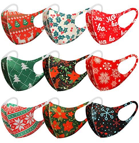 Christmas pattern washable face masks