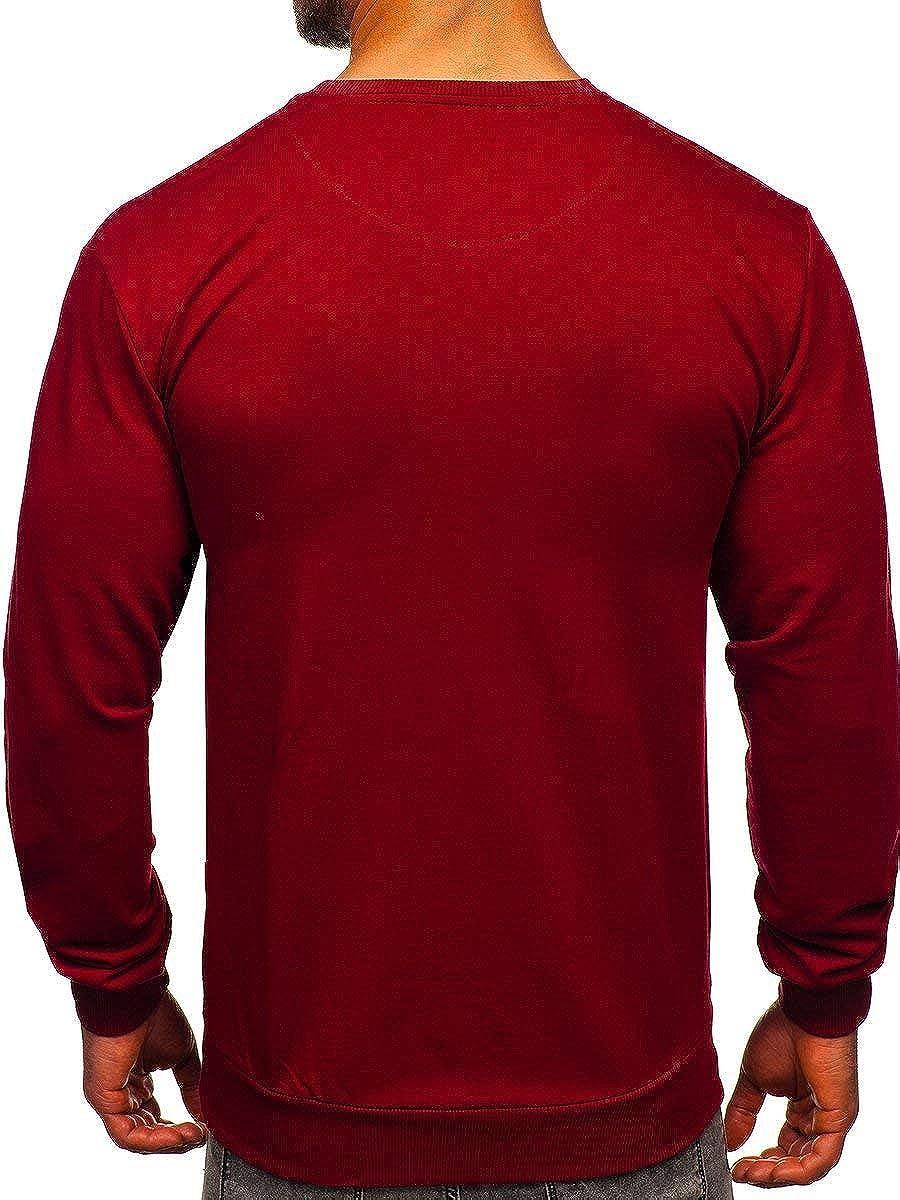 BOLF Herren Sweatshirt Pullover Langarmshirt Pulli Rundhals Classic 1A1 Motiv