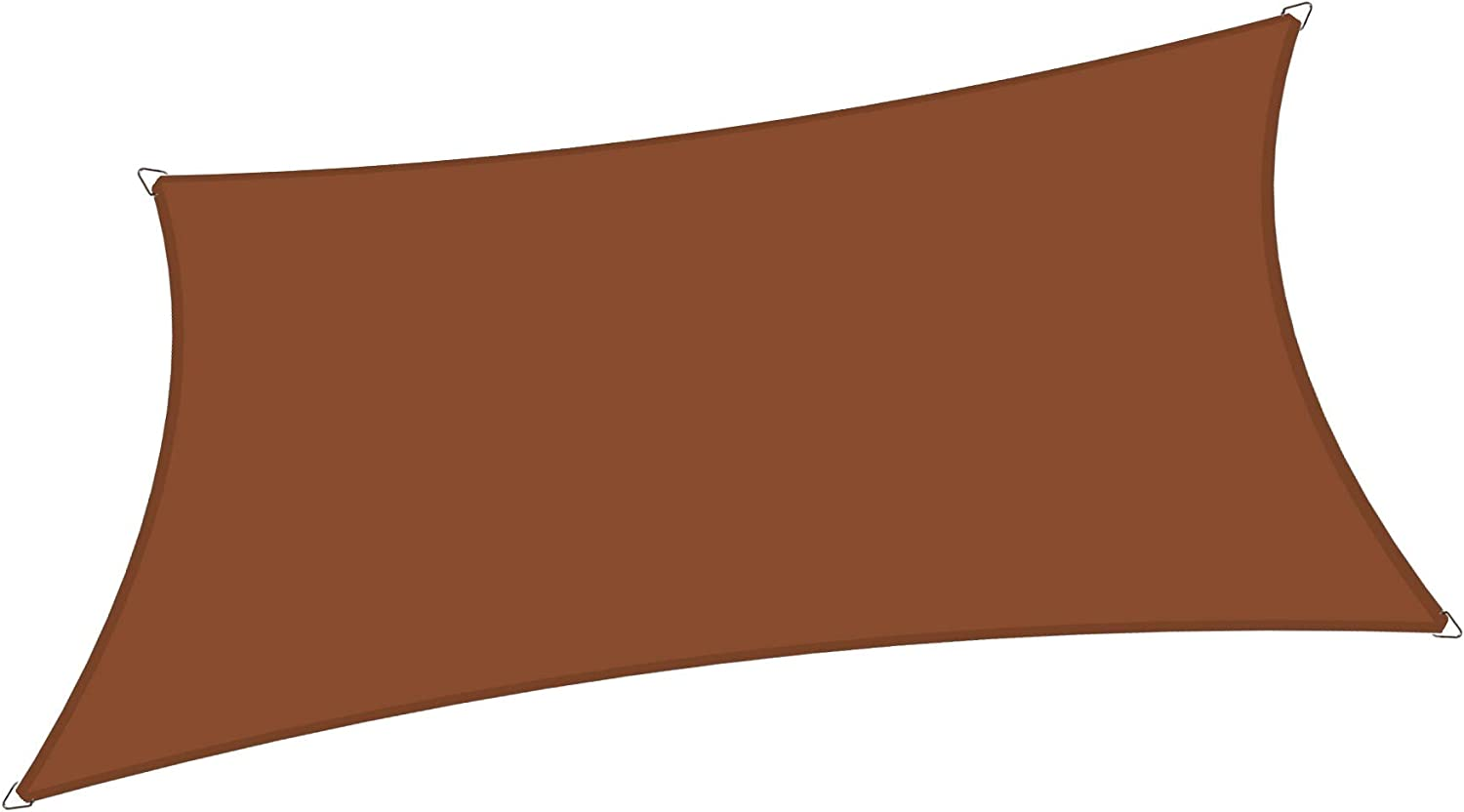 Alion Home 10' x 13' Waterproof Curved Edge Woven Polyester Sun Shade Sail (Pecan Brown)