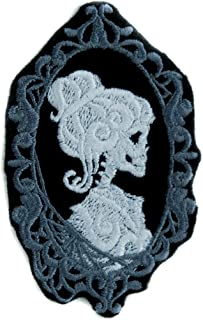 Haunted Mansion Her Cameo Skeleton Halloween Patch Iron on  Alternative Clothing