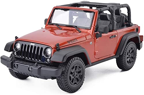 KKD Scale-Modellfahrzeuge Orange Modellauto Jeep Wrangler Willis Legierung Modell 1  18 Serie Willis Cabrio Static Modell Geburtstagsgeschenk Mini Fahrzeuge