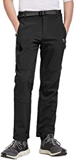BALEAF Youth Boy's Hiking Ski Pants Fleece Lined Water-Resistant Insulated Pants