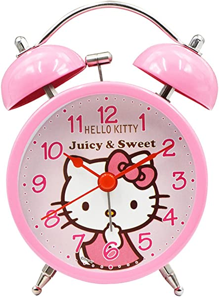 YOURNELO Cute Cartoon Boy S Girl S Numeral Desktop Alarm Clock Hello Kitty 5