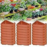 SYSI 24Pcs Triángulo Planta Maceta Pies, Pies de Maceta Planta Elevadores de Macetas Invisibles Levantadores de Macetas Soportes para Macetas de Flores Pequeñas (24PCS)