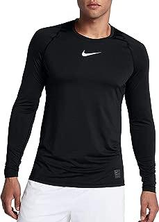 Nike Men's Pro Compression Long Sleeve Top (XL, Black/White)