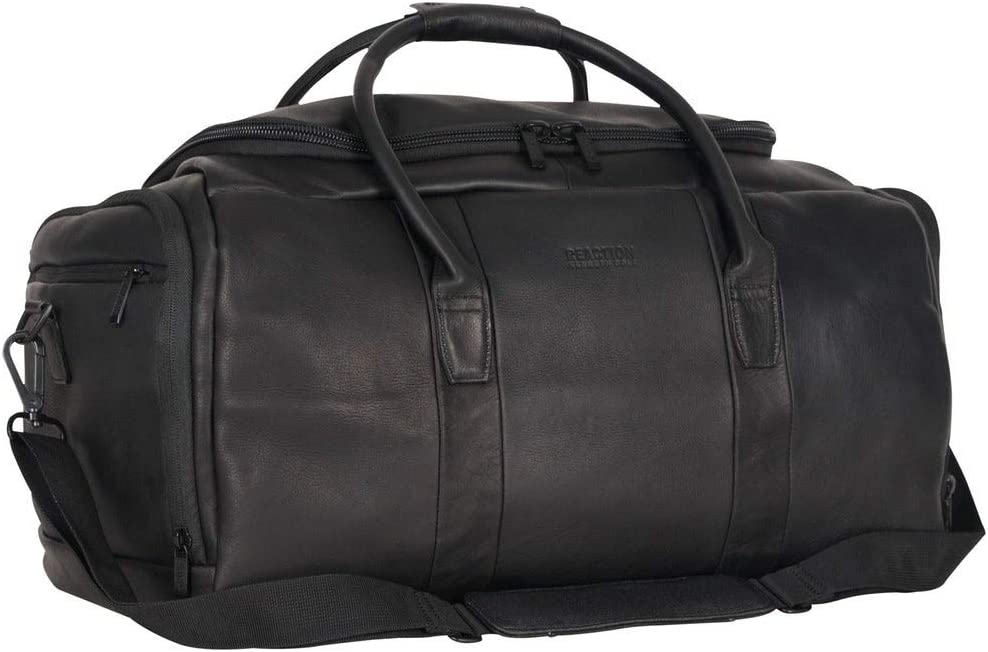 1 Piece Spring new work 20 Inch Colombian Leather Brand Cheap Sale Venue M Bag Solid Black Color Duffel