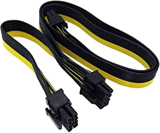 Haihuic PCIE 8 Pines Macho a Doble 8 Pines (6 + 2) Macho Adaptador de Corriente PCI Express Cable, Cable Modular para Tarjeta de Video gráfica, Divisor de 8 Pines