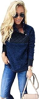 Womens Long Sleeve Sherpa Fleece Pullover Coat Sweatshirt Outwear Tops Sweater