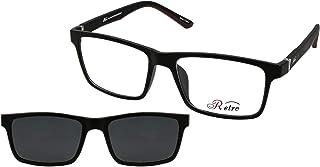 نظارة طبية باطار كامل بلون اسود مقاس M من ريترو- رقم الموديل: 4017، (سو) (مشبك)