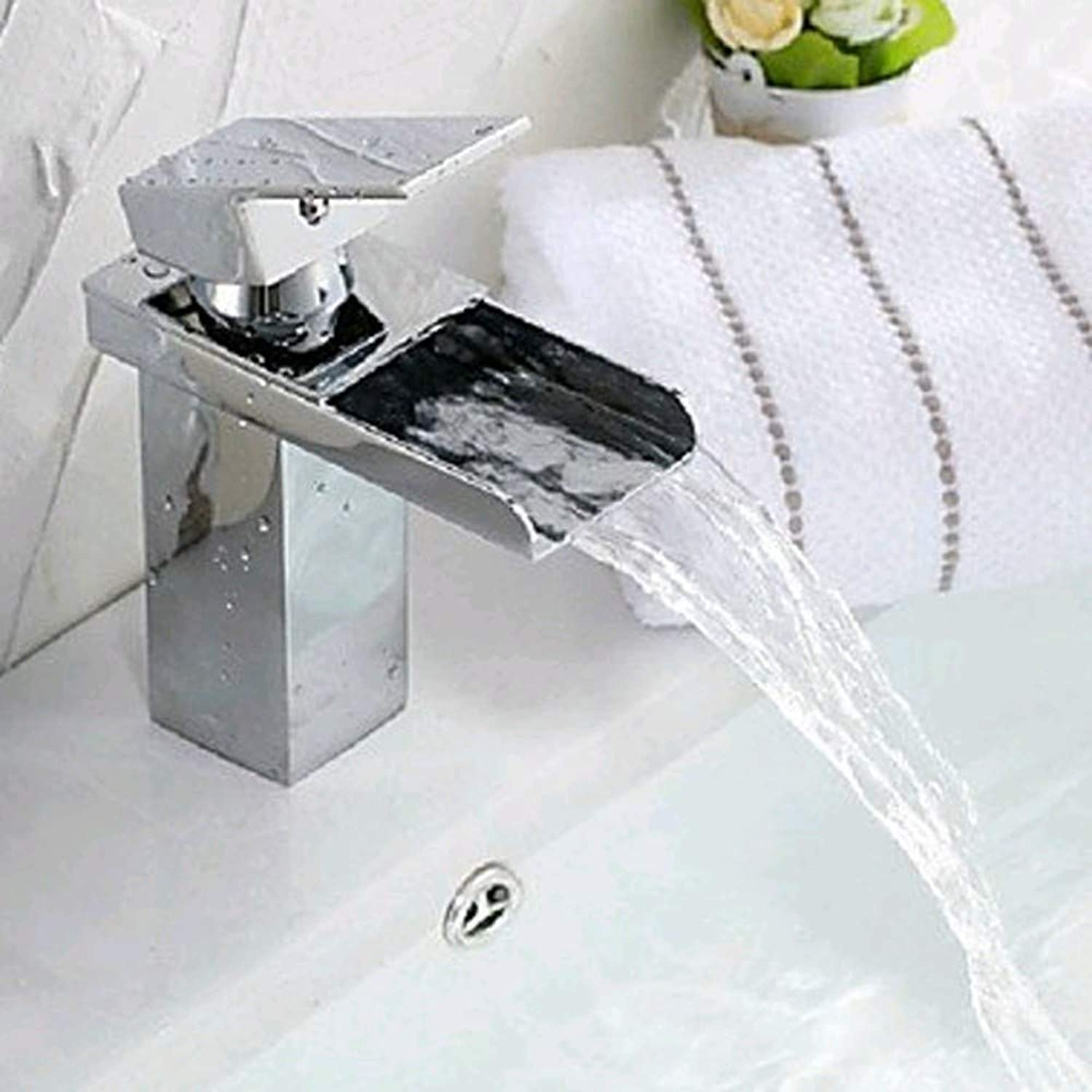 Taps Faucet Waterfall Water Hot and Cold Water Basin Faucet Short Paragraph Above Counter Basin Leading Art Faucet, Ey-P0029