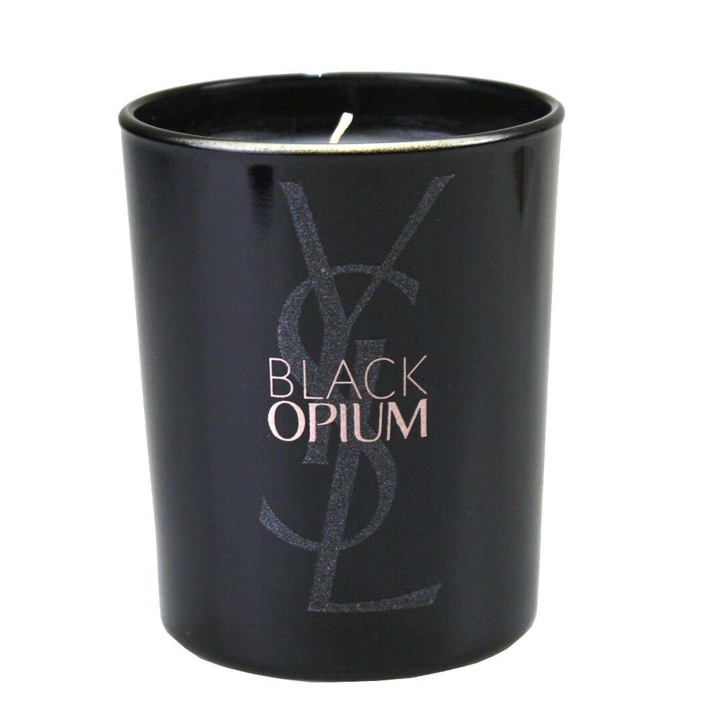 暴行迷彩引き渡す(イヴ サンローラン) Yves saint Laurent アロマキャンドル パリジェンヌ BLACK OPIUM 化粧 メイク コスメ ロゴ 黒 ブラック フルーティー フローラル コーヒー ジャスミンティーペタル
