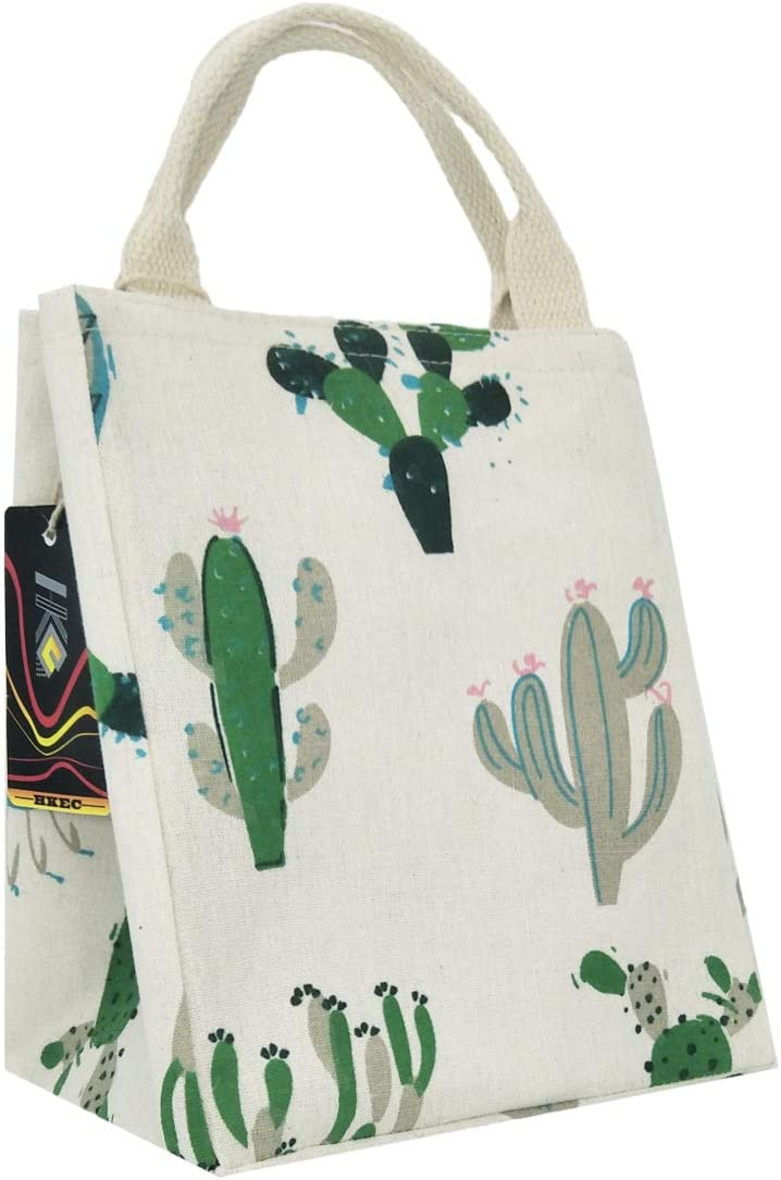 HKEC Reusable Lunch Bag Denver Mall 35% OFF Insulated Fabric Cute Canvas w Box