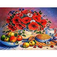 DIY-5Dダイヤモンドペインティングアート,フルラウンドドリル、デイジー花瓶静物画30x40cm、クリスタル刺繡、クロスステッチ絵画、DIY壁装飾工芸品、ホームアートデッサン