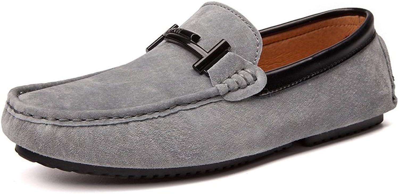 Ruiyue Müßiggänger Schuhe, Schuhe, Schuhe, Indoor & Outdoor Driving Mokassins Echtes Leder Vamp Penny Weiche Sohle Müßiggänger Für Männer (Farbe   Grau, Größe   43 EU)  1b11ee