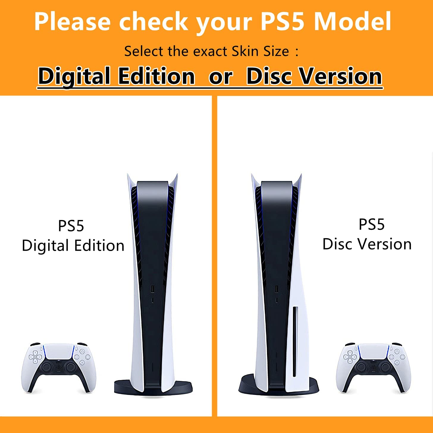 Mmoptop PS5 Skin Digital Edition Console and Controller Vinyl Cover Skins Wraps for Playstation 5 Digital Edition