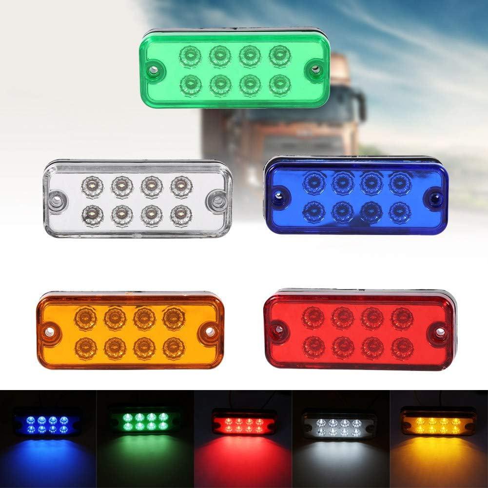 6Pcs 8 LED Side Marker Light Indicator Lamp Truck Trailer Lorry ...