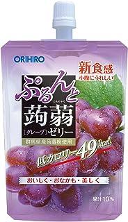 Orihiro Purun To Konnyaku Jelly Grape pouch, 130G