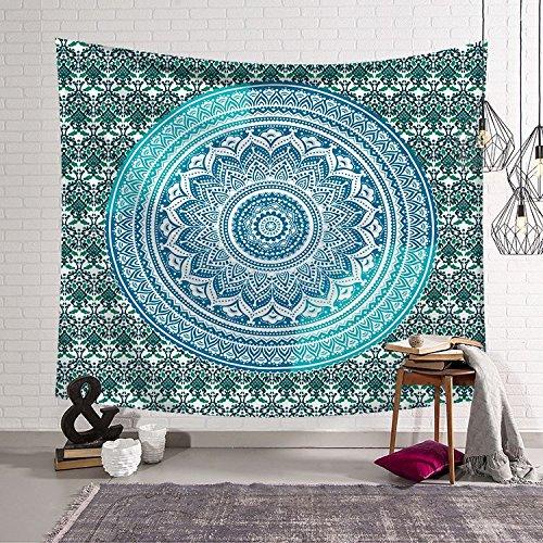 Mandala tapiz bohemia reina sirena cartel hippie colcha arte gitano tapiz telón de fondo tela A14 150x200cm