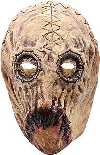 ZJMIYJ Halloweenmask, skrämmande halloween full huvudmask latex skrämmande skalle blodig stil mask skräck maskerad fest ma...