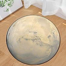 Moon Surface Printed Round Carpet Rug Floor Mats Bath Mat for Kitchen Indoor Rugs Bathroom Mats