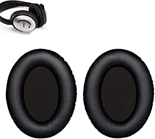 QC15 Earpads Replacement Ear Pads Ear Cushion Muffs Parts Compatible with Bose Quietcomfort 15 QC15 Over The Ear Headphones (QC15-Black)