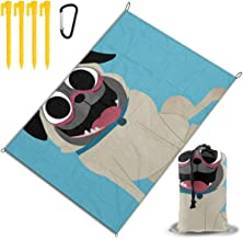 TY333 Custom Shar Pei Dog Pet Caricatures Multifunction Waterproof Picnic Mat 78 Inch X 57 Inch with Pockets
