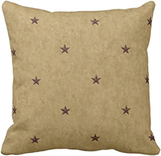 Emvency Throw Pillow Cover Americana Stars Decorative Pillow Case Holiday Home Decor Square 18 x 18 Inch Cushion Pillowcase