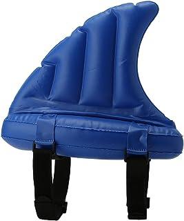 VGEBY1 Flotador de natación de aleta de tiburón, anillo de natación inflable de PVC no tóxico para niños juguetes inflables de piscina