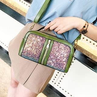 WTYD Single Shoulder Bag Sequin Casual Shoulder Bag Ladies Handbag Messenger Bag (Black) (Color : Green)