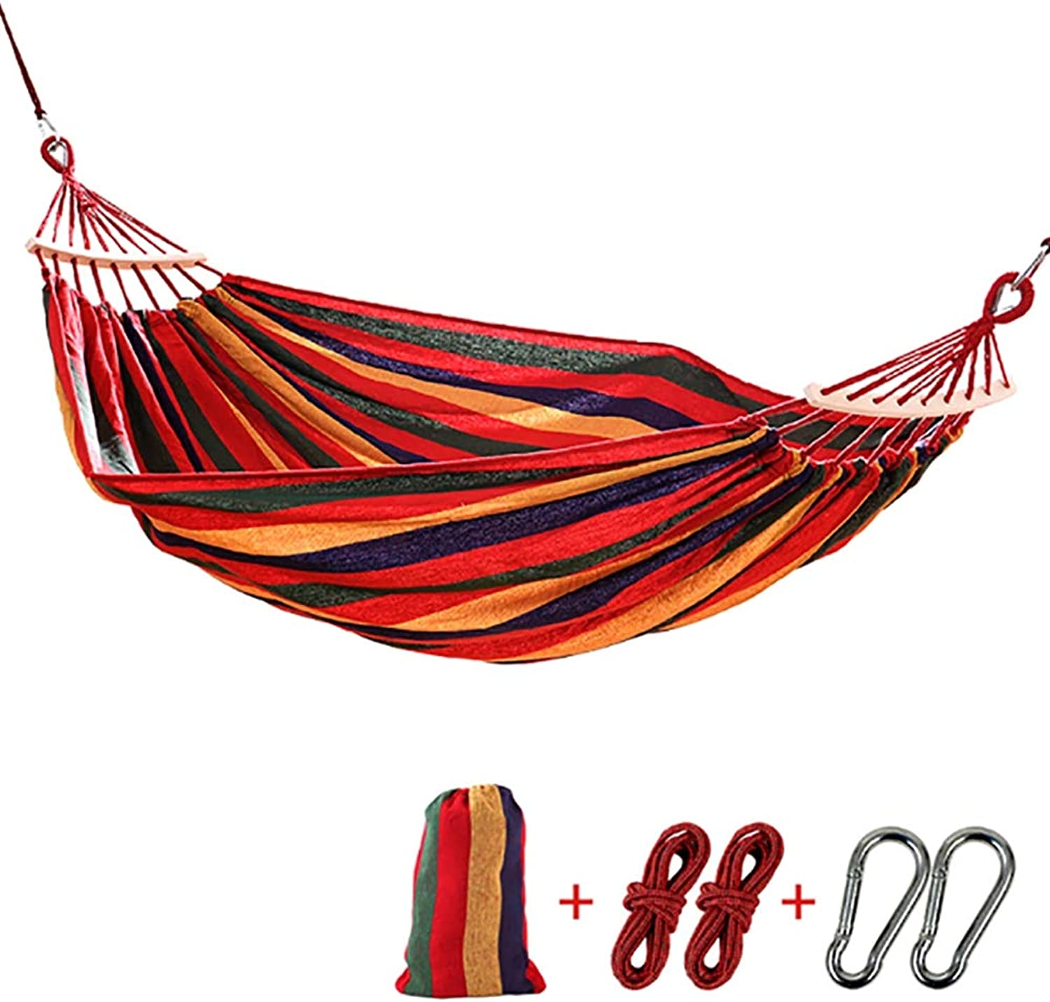 Outdoor Hanging Sheets Double Leisure Canvas Hammock Camping Stick Swing