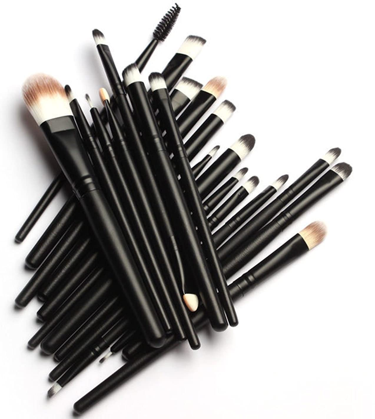 プレゼント暴力的なブース(メイクアップエーシーシー)MakeupAccメイクブラシ20本セット 化粧筆 多機能 柔らかい 黒 化粧セット【並行輸入品】