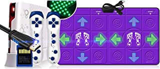 WYH Interesting Cable HDMI Double Dance Pad TV and Computer Dancing Machine Home Somatosensory Dance Sensitive (Color : Purple)