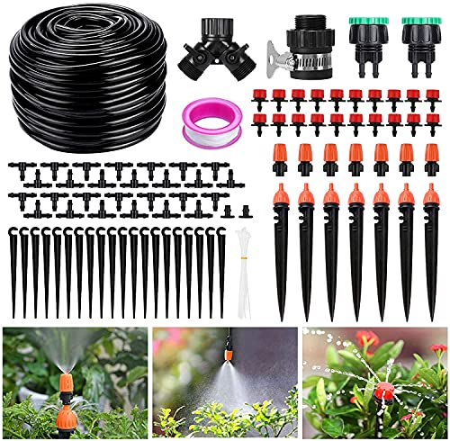 XDDIAS 40m Kit Riego por Goteo Sistema, Goteo Automático Kit Manguera Riego Goteo Micro Riego para Plantas de Patio, Invernadero, Jardín