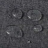 HOLISTAR 0800023 Tischdecke Leinendecke Leinenoptik Wasserabweisend Lotuseffekt Tischtuch Fleckschutz pflegeleicht abwaschbar schmutzabweisend Eckig 130×160 cm Grau - 3