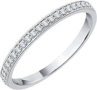 1//6 cttw, Size-11 Diamond Wedding Band in 10K White Gold G-H,I2-I3