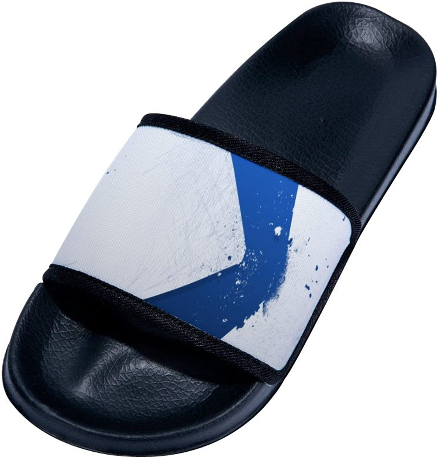 bluee-White Simple Graffiti Couple Quick-Drying Non-Slip Slippers