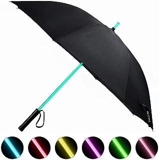 LED Paraguas Lightsaber Infantil Hombre Mujer, Luz para