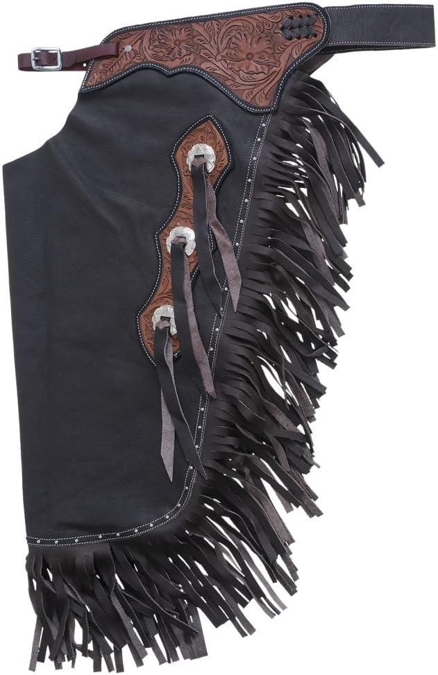 バースデー 記念日 別倉庫からの配送 ギフト 贈物 お勧め 通販 Tough-1 Leather Floral Chinks Tooled Cowboy