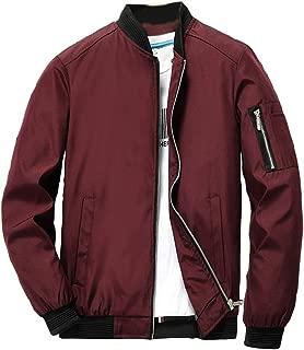 xuanyu Men's Slim Fit Lightweight Casual Flight Bomber Jacket Classic Softshell Sportswear Zip Outerwear Windbreaker with Pockets Coat